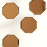 Amber Hexagon Mirror - Urban Outfitters