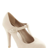 ModCloth Fashion Show Must Go On Heel in Beige