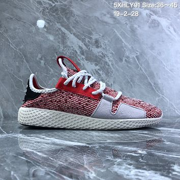 DCCK2 A766 Adidas Solar HU Tennis V2 Casual Shoes Pink Red