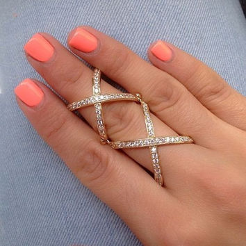 Cross Knuckle Ring