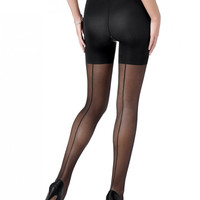 Spanx Sheer Fashion Back Seam Pantyhose 385
