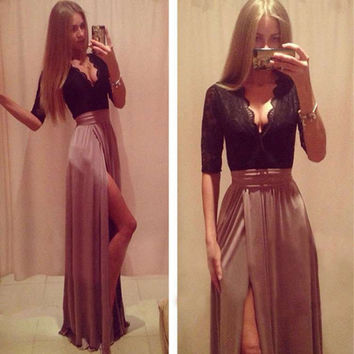 Long Maxi Chiffon Casual Dress