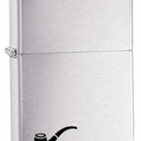 Zippo Brushed Finish Chrome Pipe Lighter