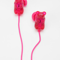 Gummy Bears Earbud Headphones - Red