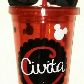 Monogrammed Mickey Mouse inspired Tumbler Cup