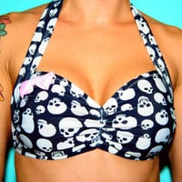 Miss Skully Halter Swim Top