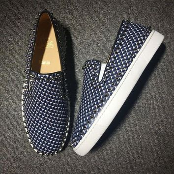 DCCK Cl Christian Louboutin Pik Boat Style #2305 Sneakers Fashion Shoes