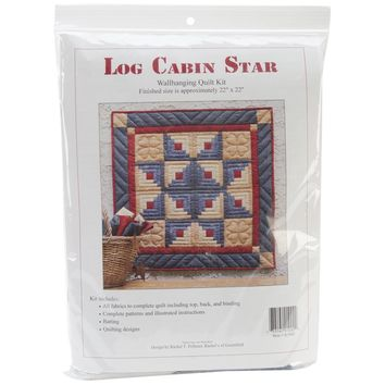 Log Cabin Star Wall Quilt Kit-Log Cabin