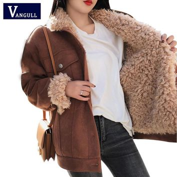 Trendy Winter Jacket Thick Fur Wool liner Coats Women Parkas Fashion Faux Fur Lined Bomber Jackets Warm Outwear 2018 New VANGULL AT_94_13