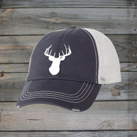 Country Girl ® White Deer Head Trucker Hat