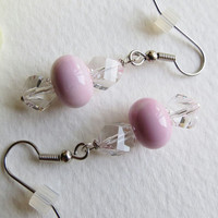 Jewelry, Dangle Earrings, Pretty in Pink, Statteam