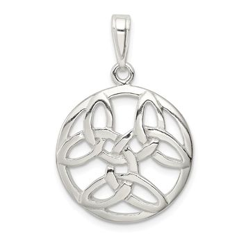 925 Sterling Silver Celtic Knot Shaped Pendant