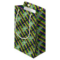 Happy Mardi Gras Poster Small Gift Bag