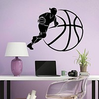 Basketball Wall Decal Sport Game Woman Ball Emblem Gym Interior Design Home Vinyl Sticker Decals Kids Nursery Baby Room Decor C593