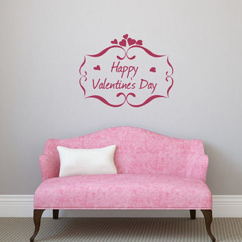 Happy Valentines Day Vinyl Wall Decal 22499