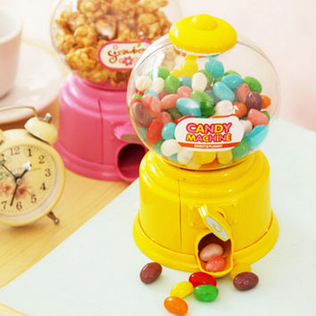 Hot New Cute Sweets Mini Candy Machine Bubble Gumball Dispenser Coin Bank Kids Toy