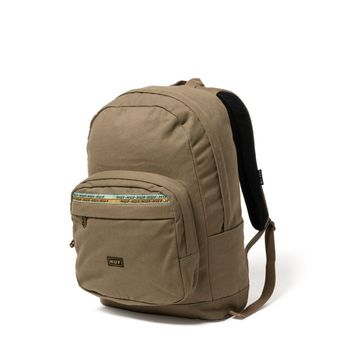 Canvas Utility Backpack-Olive