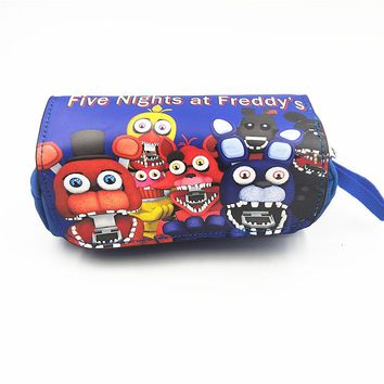 Cosmetic make up Bags  Five Nights at Freddy's women Eyebrow Pencil Bag Rick and Morty Jack Skellington Handbag Women Clutch