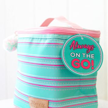 3 Happy Hooligans: Lunch Box {Mint Stripe}