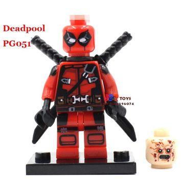 Single Sale star wars superhero marvel Armed Deadpool Comics building blocks model bricks toys for children brinquedos menino