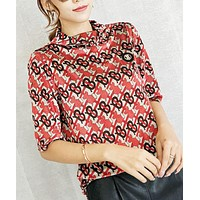Burberry Fashion New More Letter Print Loose Top Women