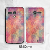Colorful Geometric pattern phone case - Moto G case - Moto X case - Moto E case - free screen protector included - L68