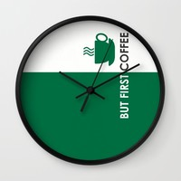 But First Coffee Wall Clock by Love Lunch Liftoff