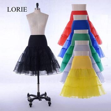 Cheap Short Wedding Mini Petticoat A Line Vintage Tulle Petticoat Crinoline Underskirt Rockabilly Swing Tutu Skirt Slip