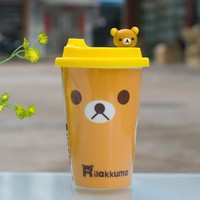 SDBING Ceramic Coffee Mug with Silicone Lid