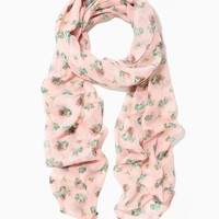 Cactus Flower Chiffon Scarf | Charming Charlie