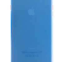 Blue Frosted Transparent Soft Case for iPhone 6 Plus