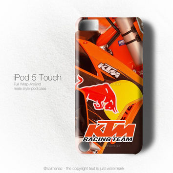 KTM Racing Team Motocross Ama MX Champion Motorcycle iPod 5 Touch Case