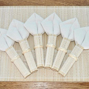 Set of 6 Bamboo Placemat Settings