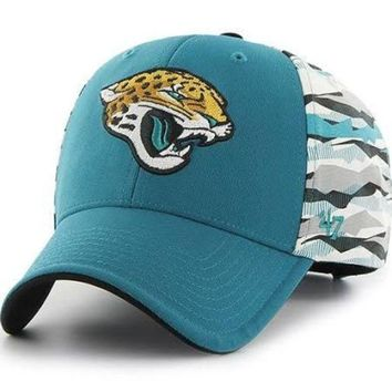 DCCKG8Q NFL Jacksonville Jaguars Carrier MVP Dark Teal 47 Brand Adjustable Hat