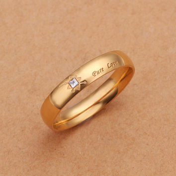 Pure Love Gold Plated Ring