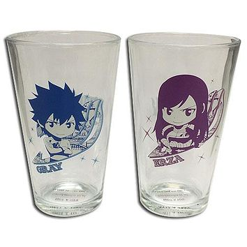 Gray & Erza - Pint Glass Set - Fairy Tail