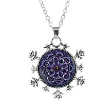 Buddhist necklace Fashion Women Sacred Geometry Mandala Jewelry
