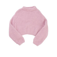 pink sweater ;