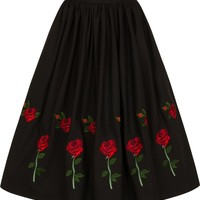 Rosa Rossa [Black] | SKIRT