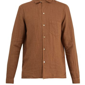 Gemma point-collar linen shirt | The Gigi | MATCHESFASHION.COM UK