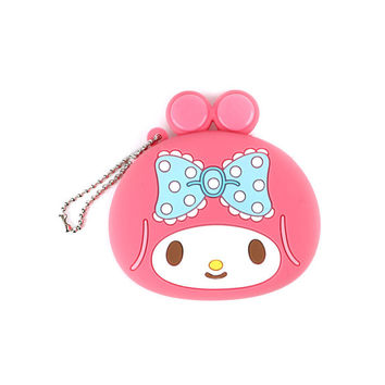 My Melody Silicone Coin Purse Keychain
