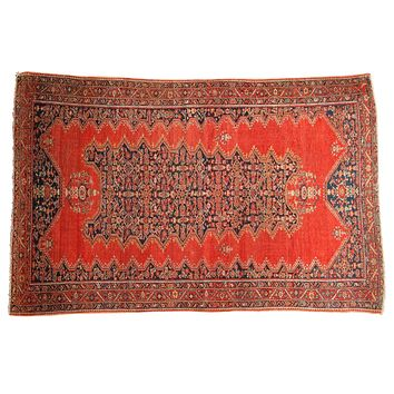 4x6 Antique Tomato Red Malayer Rug