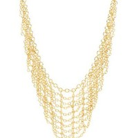 Gold Chain Mail Bib Necklace by Charlotte Russe