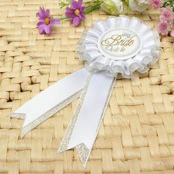 Black&White Bride/Groom To Be Bachelorette Bridal Shower Stag Hen Night Party Badge Rosette
