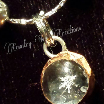 Real Preserved Snowflake fo sale, Necklace, Real Snowflake, Frozen, OOAK,Tiny