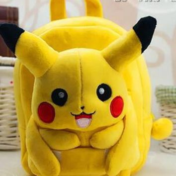 Cool Backpack school Gift for baby 1pc 25cm cartoon stereo lovely Pikachu plush doll cute cool children backpacks Satchel shoulder bag girl toy AT_52_3
