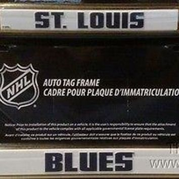 St Louis Blues CUSTOM Yellow FRAME Metal Chrome License Plate Tag Cover Hockey