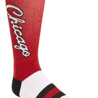 Men's Stance 'Chicago Bulls' Combed Cotton Blend Socks - Red