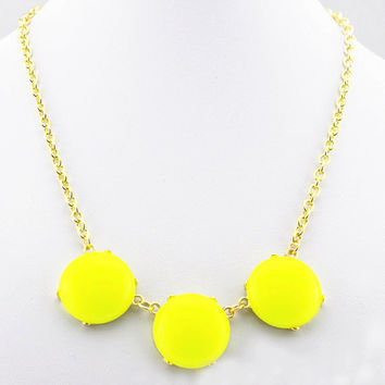 Small Bubble Necklace, Yellow Statement Necklace Jewelry, J.Crew Inspired Jewelry