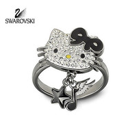 Swarovski Crystal Jewelry HELLO KITTY ROCK Ring Size: Large/8/58 #1145276